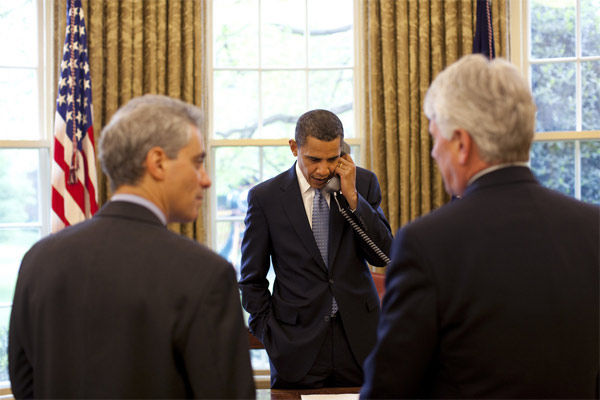Obama calling from the Oval Office